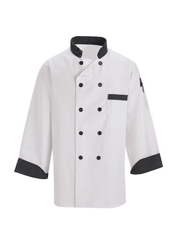 Black Trim Chef Coat