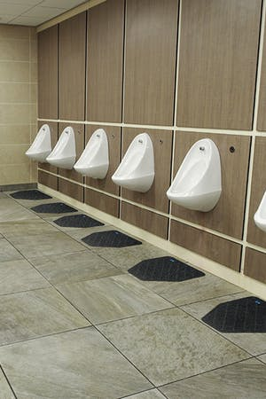 Disposable Urinal Mat 6 Pieces (1 Case)